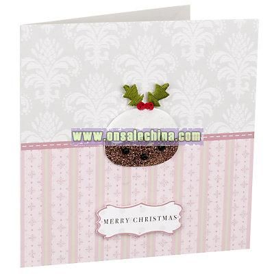Vintage Christmas Pudding Cards