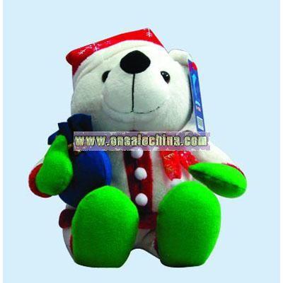 Stuffed Christmas Bear