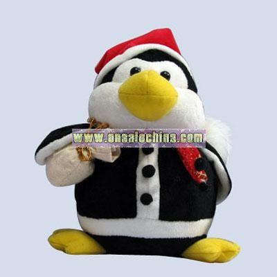 Stuffed Christmas Penguin