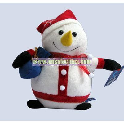 Stuffed Christmas Snowman for Christmas Gift