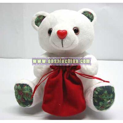 Sound Stuffed Christmas Bear
