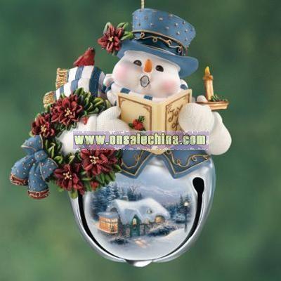 Snow-Bell Holidays Snowman Ornament