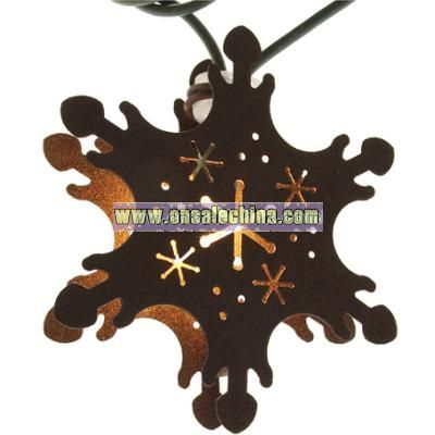 Handcrafted Holiday String Lights, Snowflake
