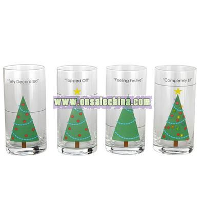 Christmas Tree Party Glasses