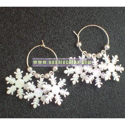 Iridescent Snowflake Earrings