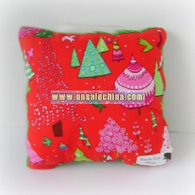 Holiday Tree Sweater Throw Pillow - Candy Colored Christmas