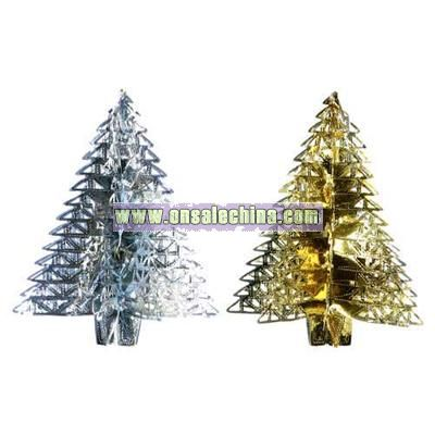 Christmas Foil Tree 16cms High - Assorted Colours