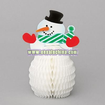 6 Inch Snowman Honeycomb Decorations - 4 in a pack