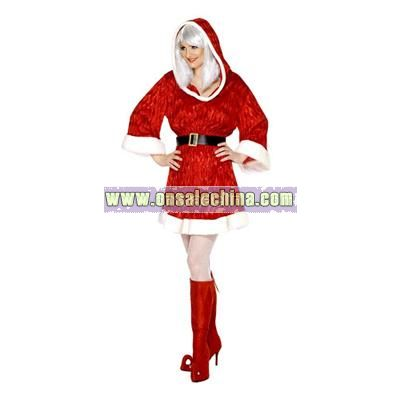 Xmas Miss Santa Costume - Small