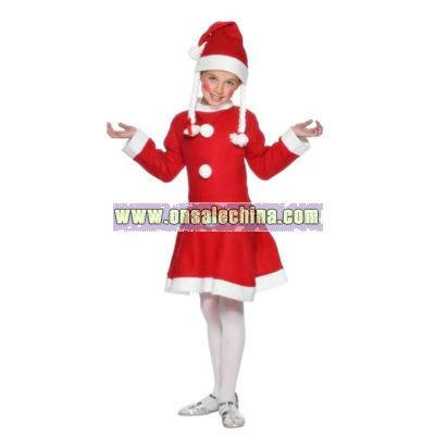 Miss Santa Suit for 3 - 5 Year Olds