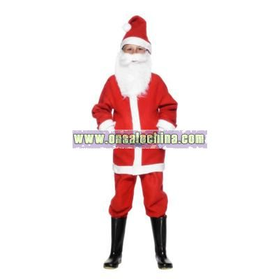 Santa Boy Costume for 3 - 5 Year Olds