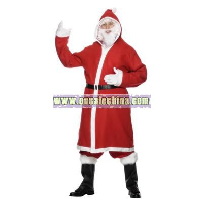 Father Christmas Gown Adult Costume - Large Size
