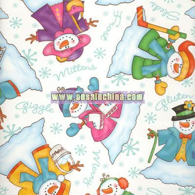 Dress Up Snowman Wrapping Paper