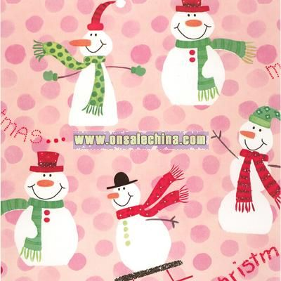 Merry Christmas Snowmen Wrapping Paper