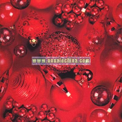 Red Ornaments Wrapping Paper