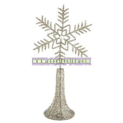 Glitter Snowflake Tree Topper