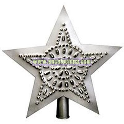 Christmas Tree Star - Pewter Finish