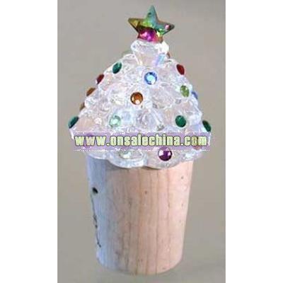 Christmas Tree Wine Topper
