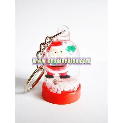 Christmas Liquid Keychain