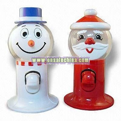 Santa Claus and Snowman Shaped Candy and Snacks Dispenser