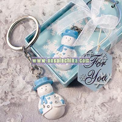 Snowman Key Chains Bridal Wedding Favors