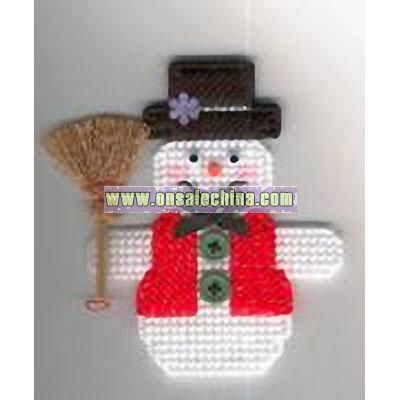 Frosty The Snowman Plastic Canvas Magnet