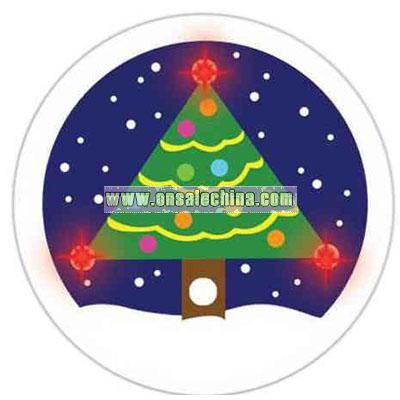 Flashing Christmas Tree Button