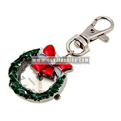 Christmas Anadem Quartz Fashion Key Chain Key Ring Watch
