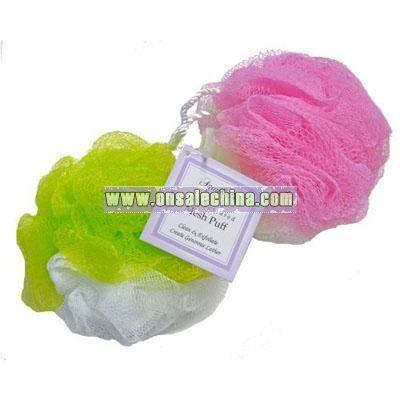 AquaBella Dual Texture Mesh Pouf Bath Sponge