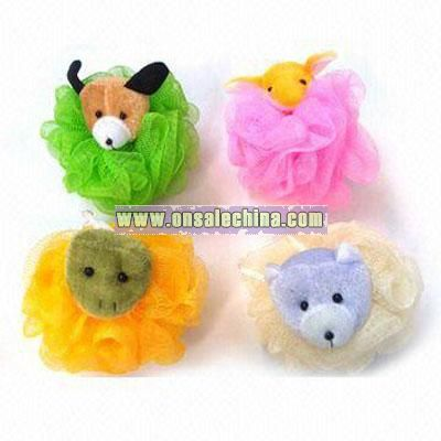Plush Animal Bath Puff
