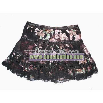 Burnout Silk Skirt