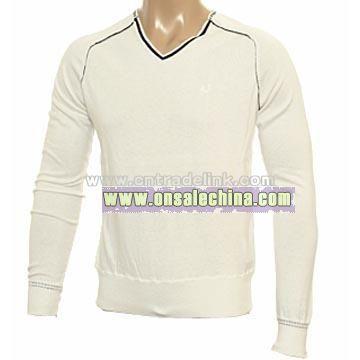 Armani Ivory V-Neck Sweater