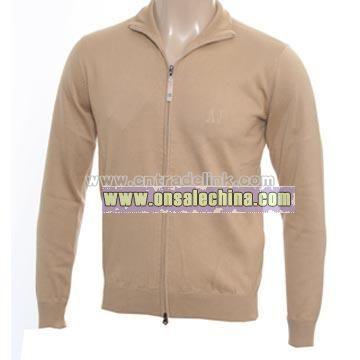 Armani Beige Full Zip Sweater