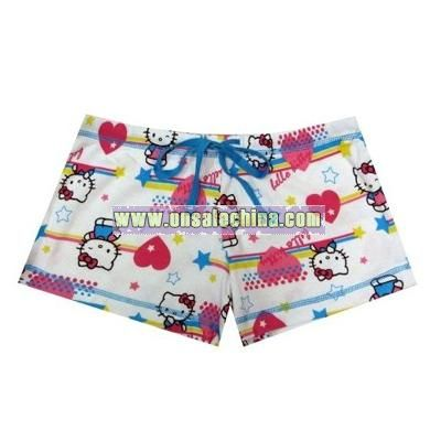 Hello Kitty Star Heart Ribbed Sleep Shorts for women