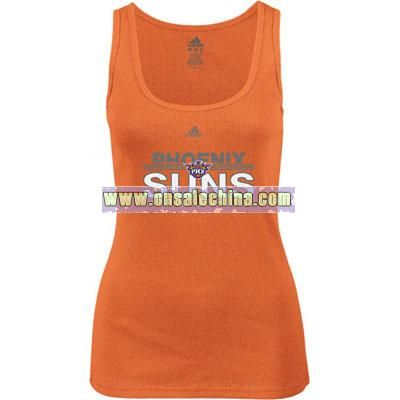 Women's- Orange Horizon Long Rib Tank