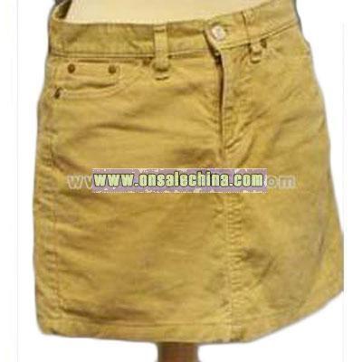 Jeans beige cord skirt