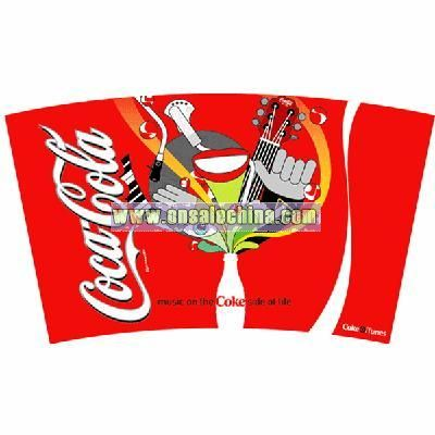 Coca Coal 3D Cup Sticker