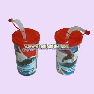 Coca Coal Straw Cup
