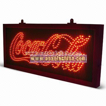 Coca cola Led Sign with Flashing lighting