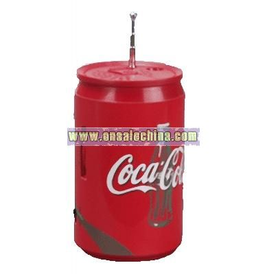 Cola Can Shape FM Auto Scan Radio