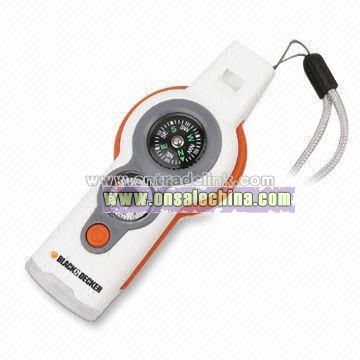 Multi-function LED Flashlights with Magnifier Compass and Whistle