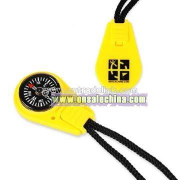 Zipper Pull Compass