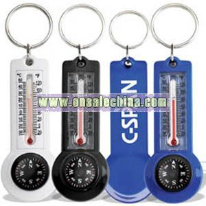 Compass/Thermometer Key Ring