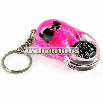Fancy Liquid Compass Keychain