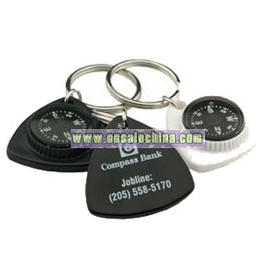 Triangle Compass Key Chain