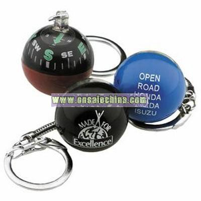 Round Compass Key Chain
