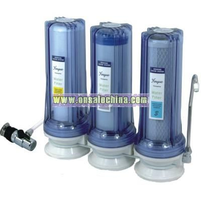 Counter top water fitler
