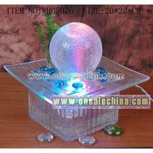 Crystal Glass Tabletop Fountain