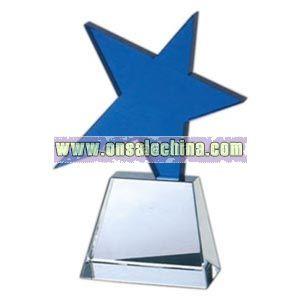 Optical crystal meteor award