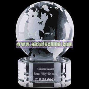 Optical crystal globe award